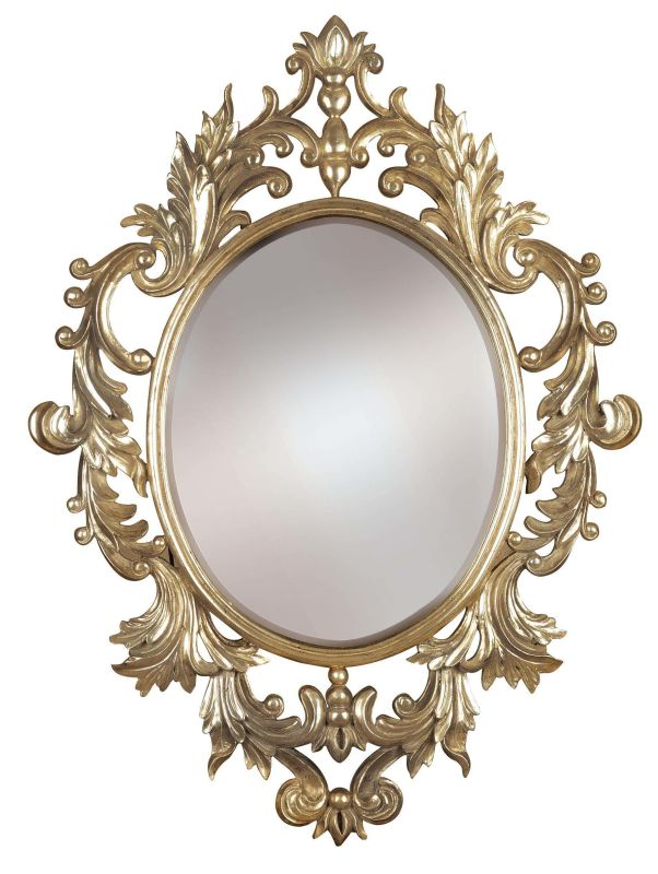 Kenroy Home 60010 Louis Oval Mirror Silver Leaf Home Decor Lighting