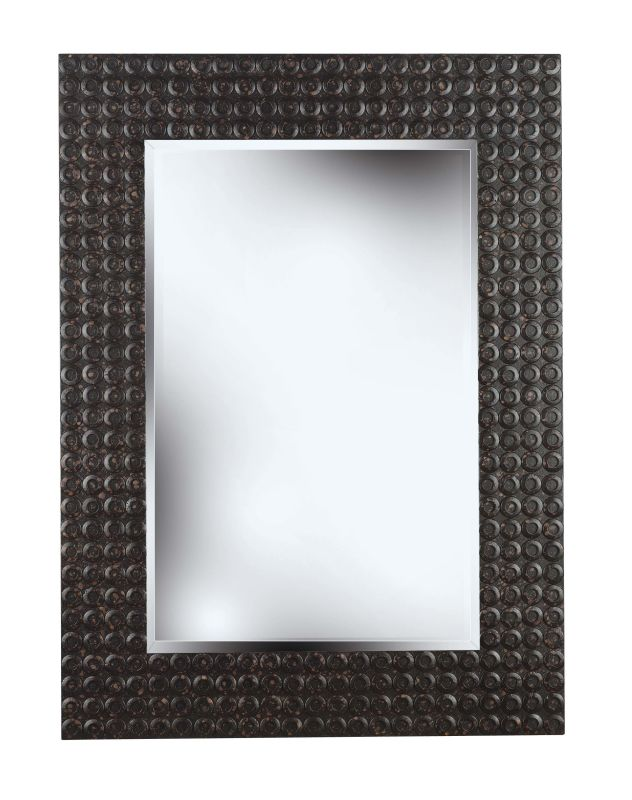 Kenroy Home 60012 Murphy Beveled Square Mirror Black Home Decor