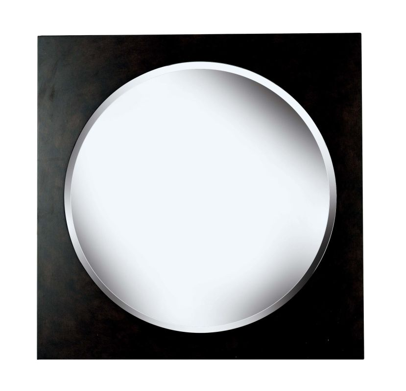 Kenroy Home 60023 Eclipse Beveled Round Mirror Brushed Silver Home