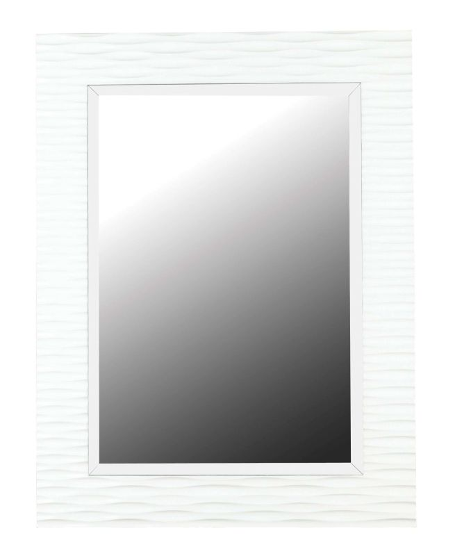Kenroy Home 60024 Kendrick Beveled Rectangular Mirror Gloss White Home