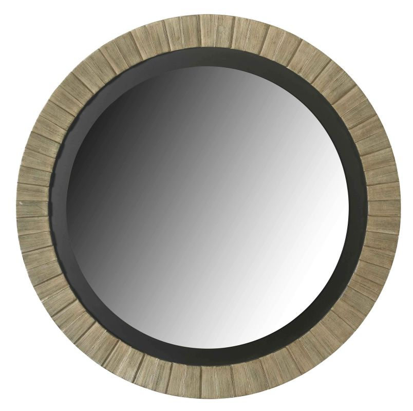 Kenroy Home 60025 Montgomery Round Mirror Antique Silver Home Decor