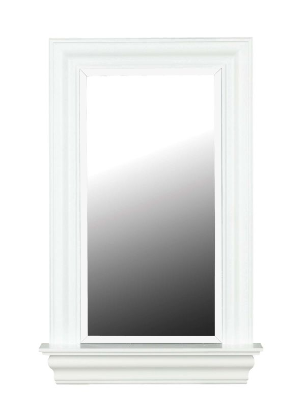 Kenroy Home 60028 Juliet Beveled Rectangular Mirror White Gloss Home