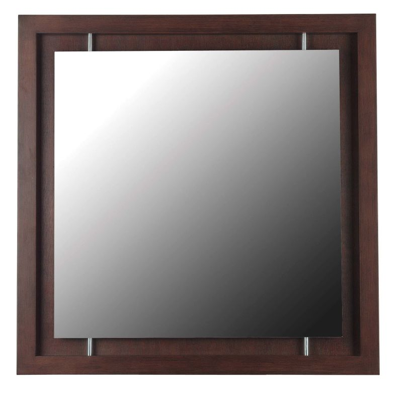 Kenroy Home 60031 Potrero Square Mirror Mahogany Home Decor Lighting