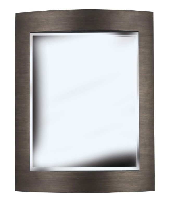 Kenroy Home 60037 Folsom Beveled Rectangular Mirror Brushed Bronze