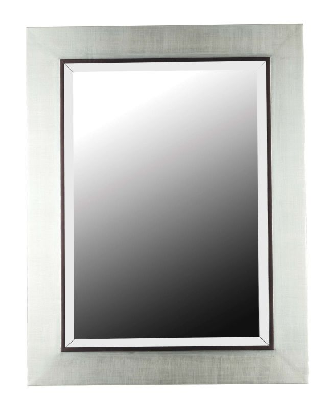 Kenroy Home 60039 Dolores Beveled Rectangular Mirror Silver Home Decor