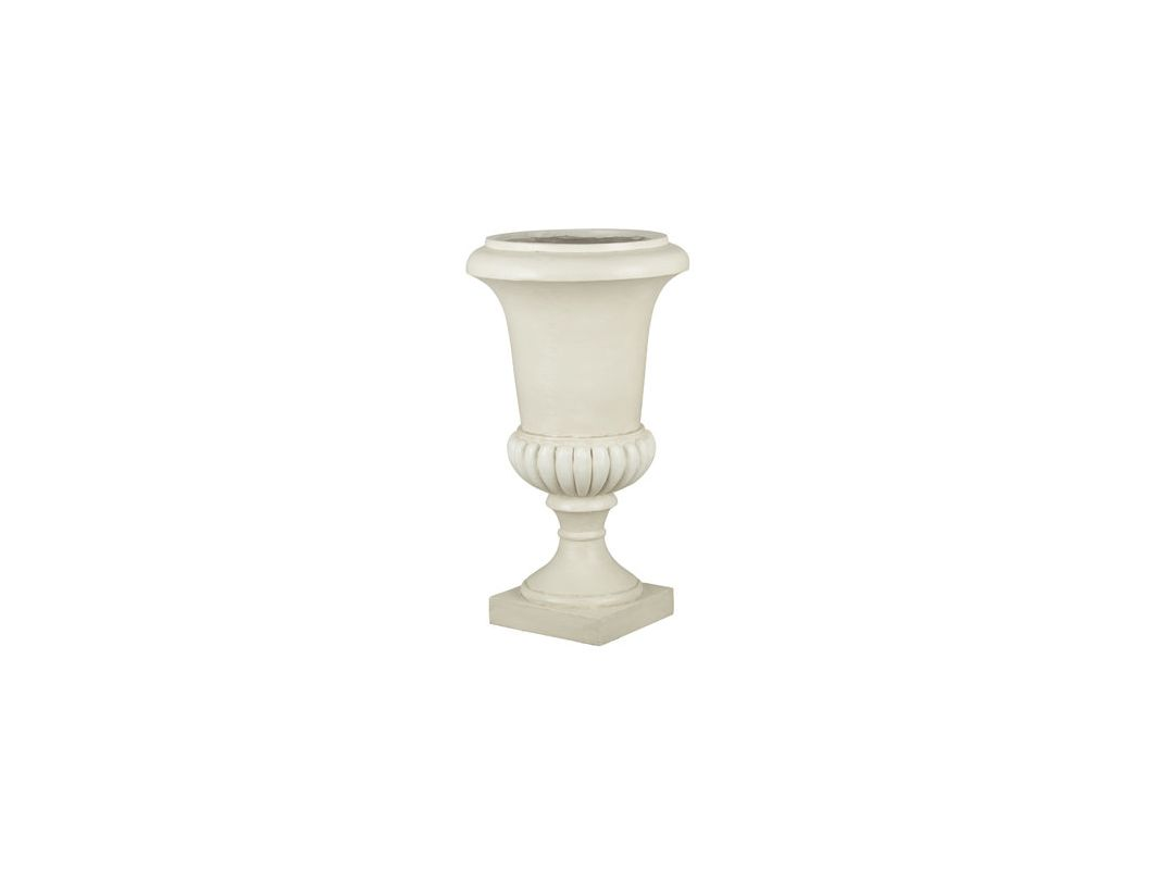 "Kenroy Home 60057 31"" Tall Urn Shaped Garden Planter Roman White Home"