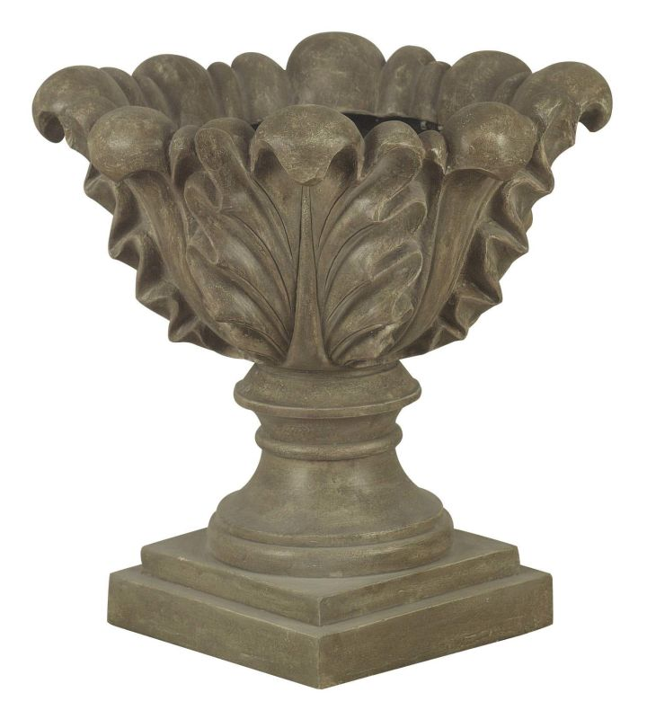"Kenroy Home 60060 21"" Scroll Leaf Shaped Garden Planter Tuscan Earth"