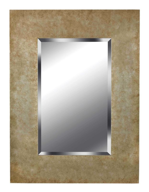 Kenroy Home 60093 Sheen Beveled Rectangular Mirror Golden Copper Home
