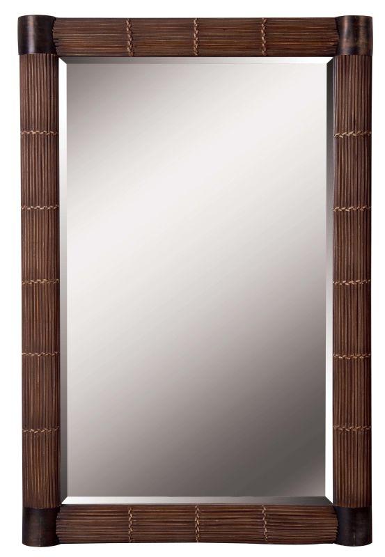 Kenroy Home 60099 Bundle Beveled Rectangular Mirror Natural Reed Home
