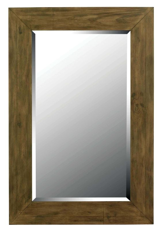 Kenroy Home 60202 Eureka Beveled Rectangular Mirror Wood Grain Home