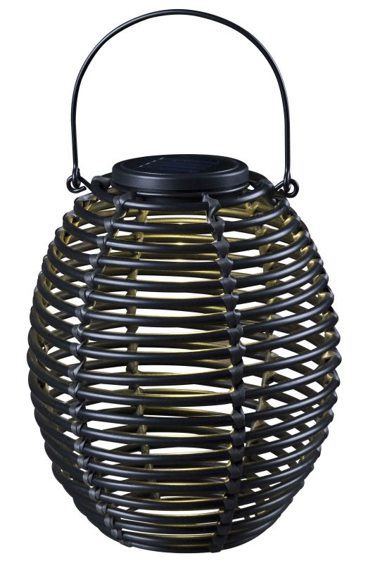 Kenroy Home 60530 Seriously Solar 1 Light Solar Lantern Rattan Outdoor