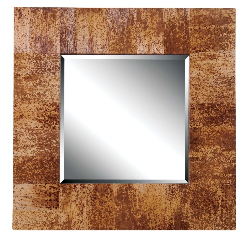 Kenroy Home 61003 Caribe Beveled Square Mirror Banana Leaf Home Decor