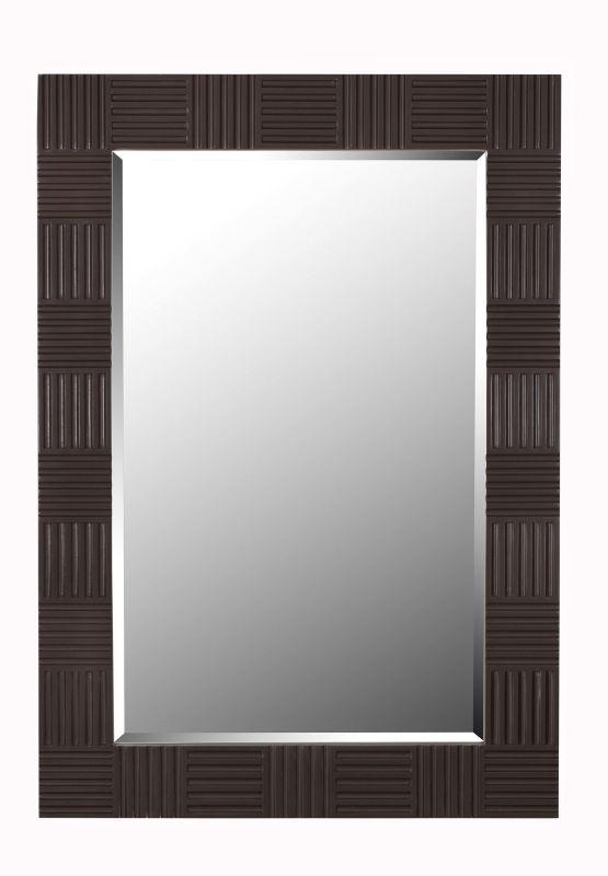 Kenroy Home 61010 Flutes Beveled Rectangular Mirror Wood Grain Home