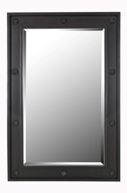 Kenroy Home 61012 Signet Beveled Rectangular Mirror Dark Wood Grain