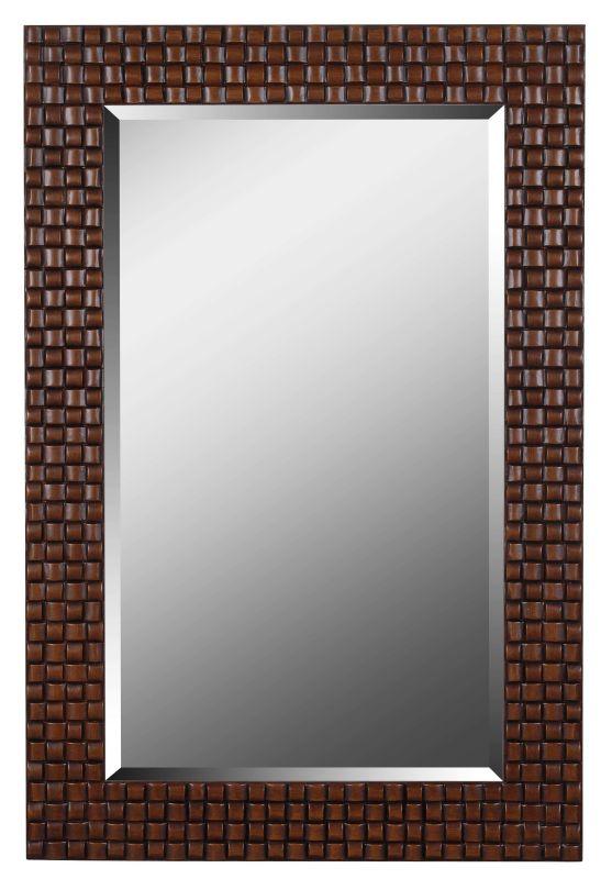 Kenroy Home 61018 Interlace Beveled Rectangular Mirror Light / Dark