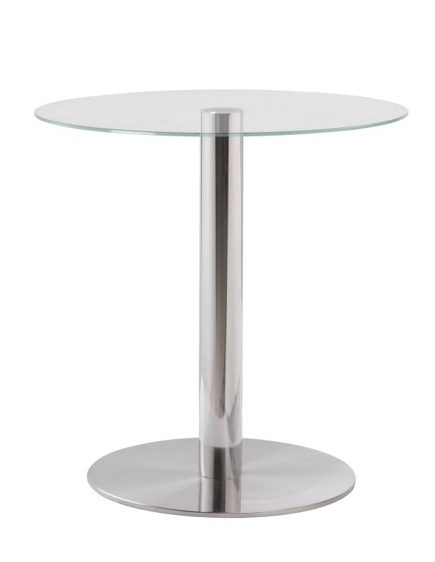 "Kenroy Home 65004 Turner 21.63"" Tall Accent Table with Clear Tempered"