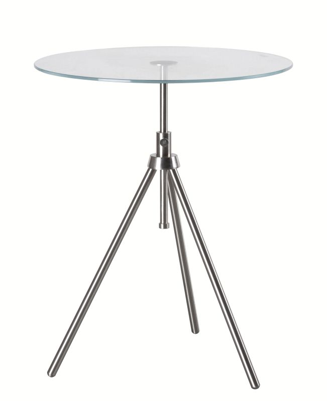 "Kenroy Home 65016 Axel 22"" Tall Accent Table with Clear Tempered Glass"