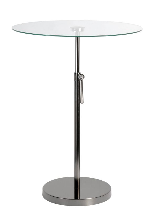 "Kenroy Home 65025 Propel 24"" Tall Accent Table with Clear Tempered"