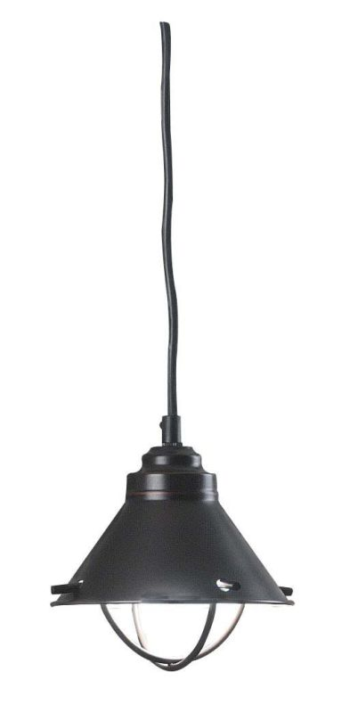 Kenroy Home 66342ORB Harbour 1 Light Mini Pendant Oil Rubbed Bronze