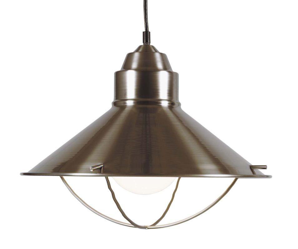 Kenroy Home 66349 Harbour 1 Light Full Sized Pendant Brushed Steel