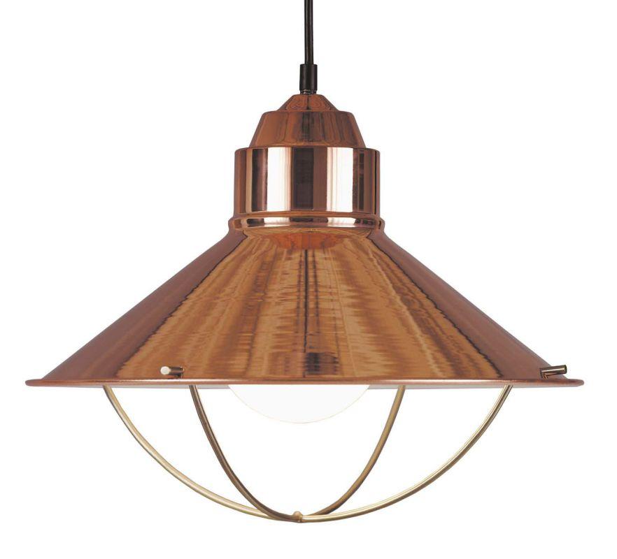 Kenroy Home 66349 Harbour 1 Light Full Sized Pendant Copper Indoor
