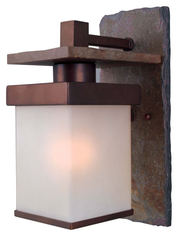 Kenroy Home 70283COP Boulder 1 Light Wall Sconce Natural Slate with