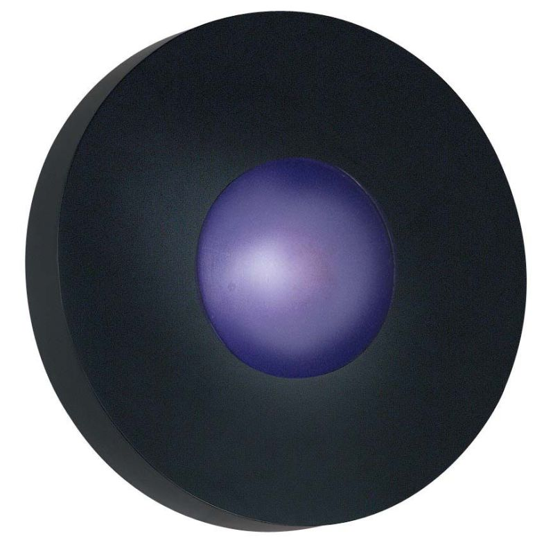 Kenroy Home 72824 Burst 1 Light Large Round Outdoor Wall Sconce Black