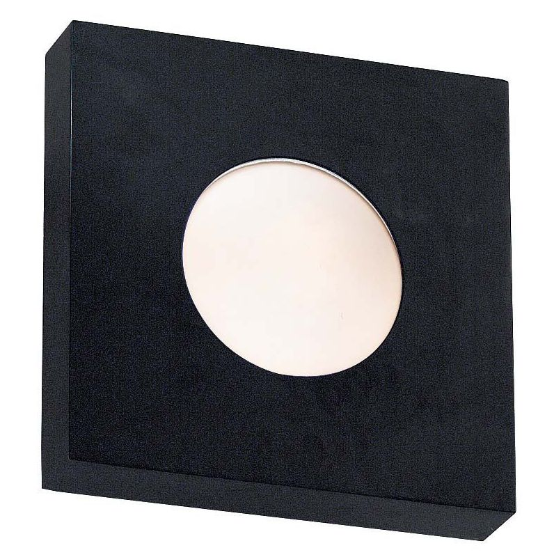 Kenroy Home 72825 Burst 1 Light Small Square Outdoor Wall Sconce Black