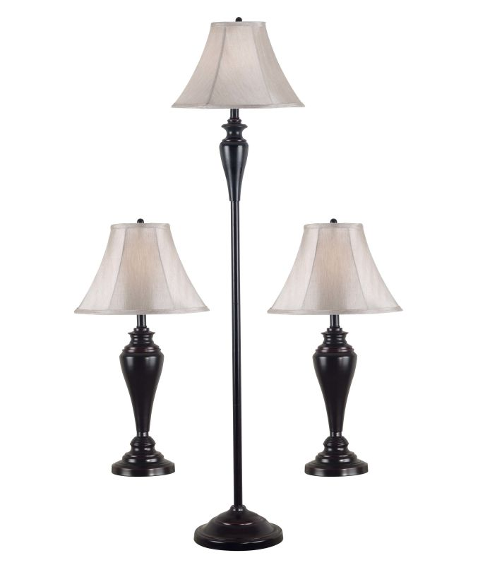 Kenroy Home 80006 Pack of 3 Kylie 1 Light Floor Lamp and 2 Light Table