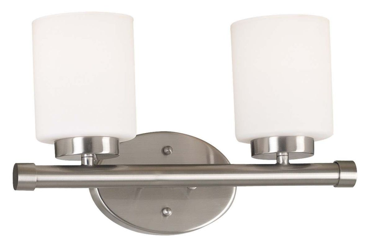 Kenroy Home 80402 Mezzanine 2 Light Bathroom Vanity Light Brushed