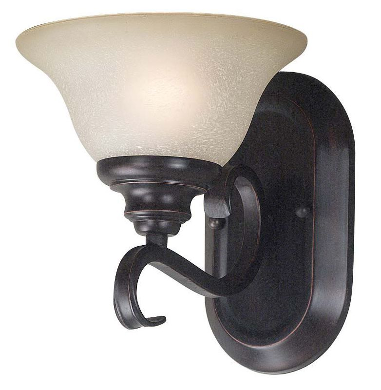 Kenroy Home 80471 Welles 1 Light Wall Sconce Oil Rubbed Bronze Indoor