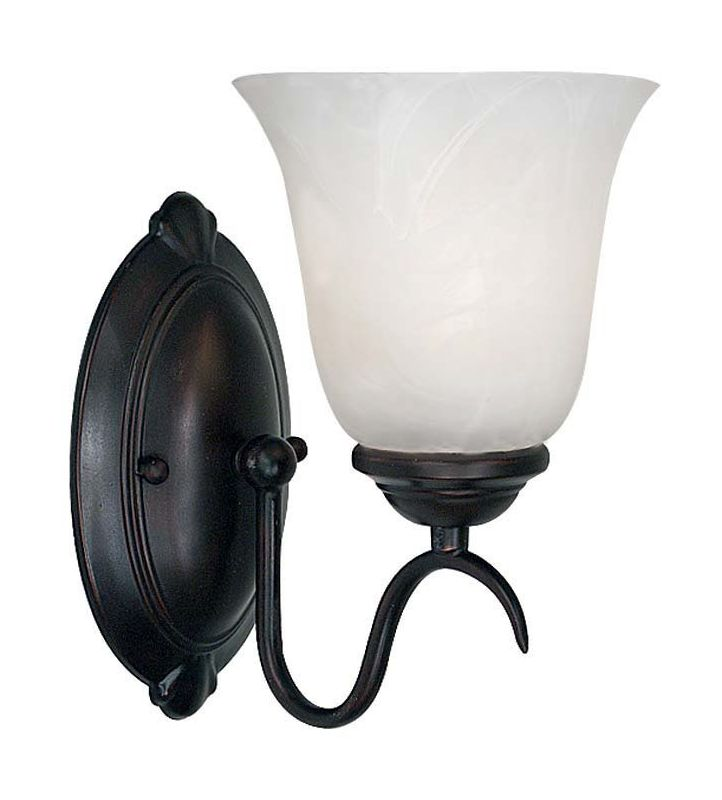 Kenroy Home 90211 Medusa 1 Light Wall Sconce Oil Rubbed Bronze Indoor
