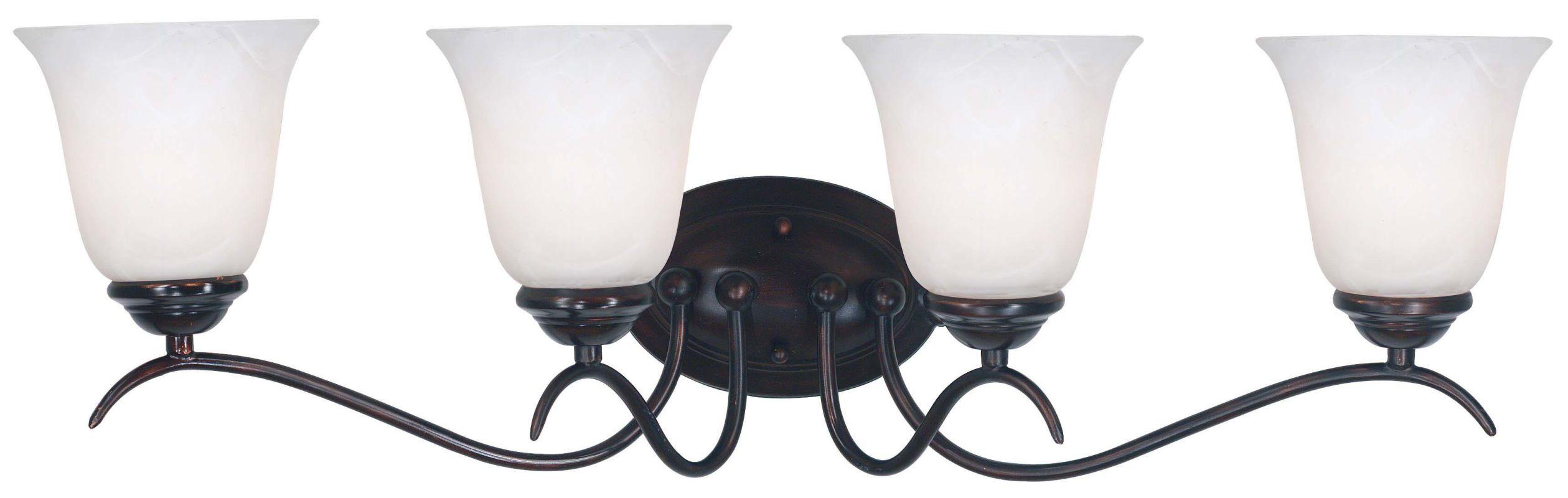 Kenroy Home 90214 Medusa 4 Light Reversible Vanity Light Oil Rubbed