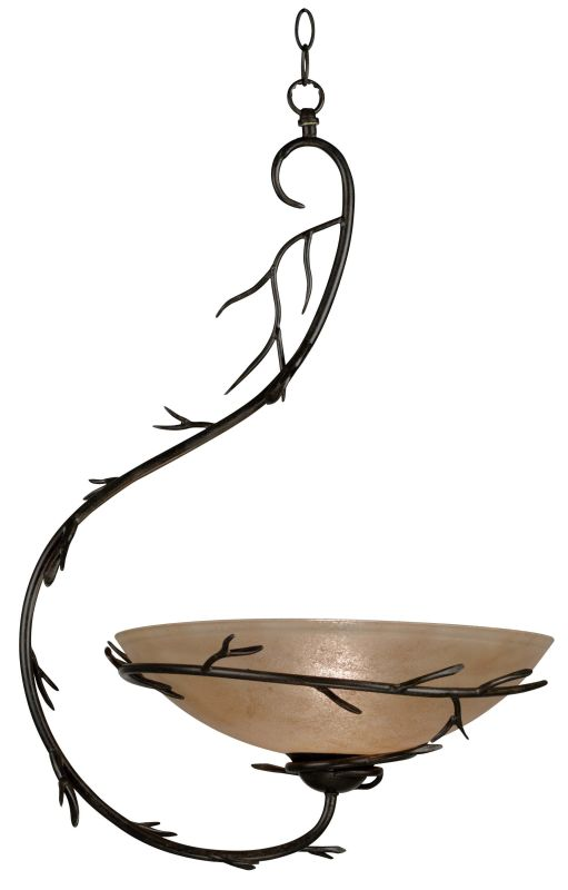 Kenroy Home 90902 Twigs 1 Light Full Sized Pendant Bronze Indoor