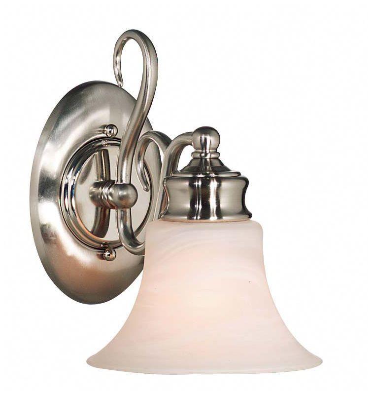 Kenroy Home 91391 Wynwood 1 Light Wall Sconce Brushed Steel Indoor