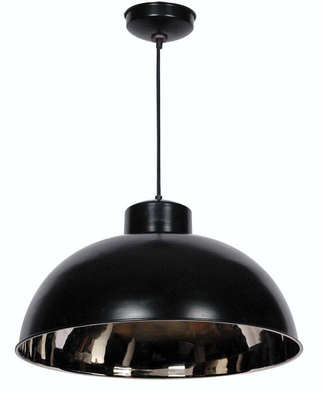 Kenroy Home 92062 Domus 1 Light Full Sized Pendant Black / Nickel
