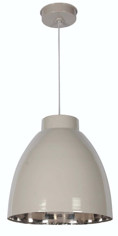 Kenroy Home 92077 Silo 1 Light Full Sized Pendant Taupe / Nickel