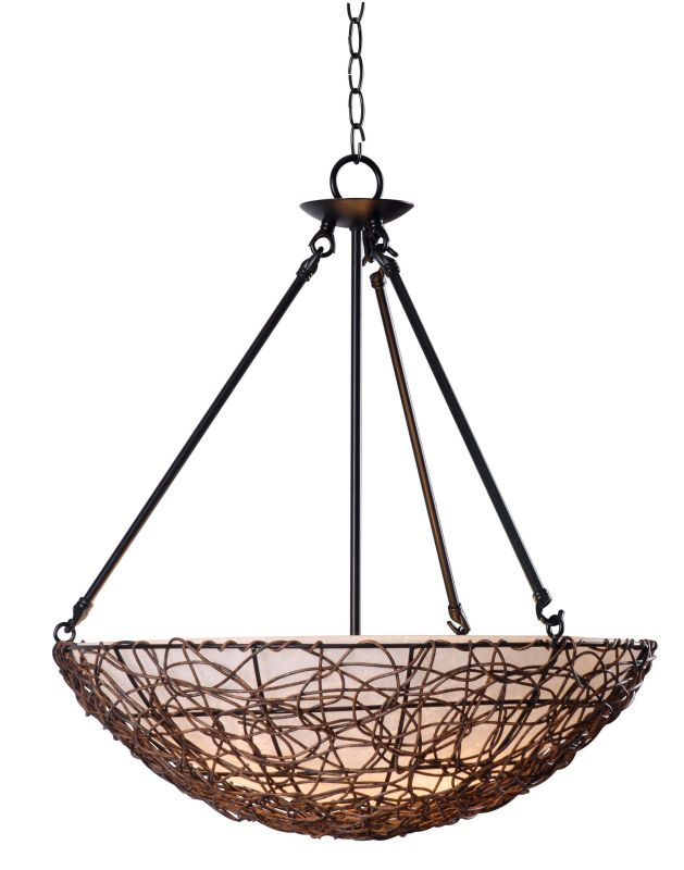 Kenroy Home 93303 Thicket 3 Light Full Sized Pendant Rattan Indoor