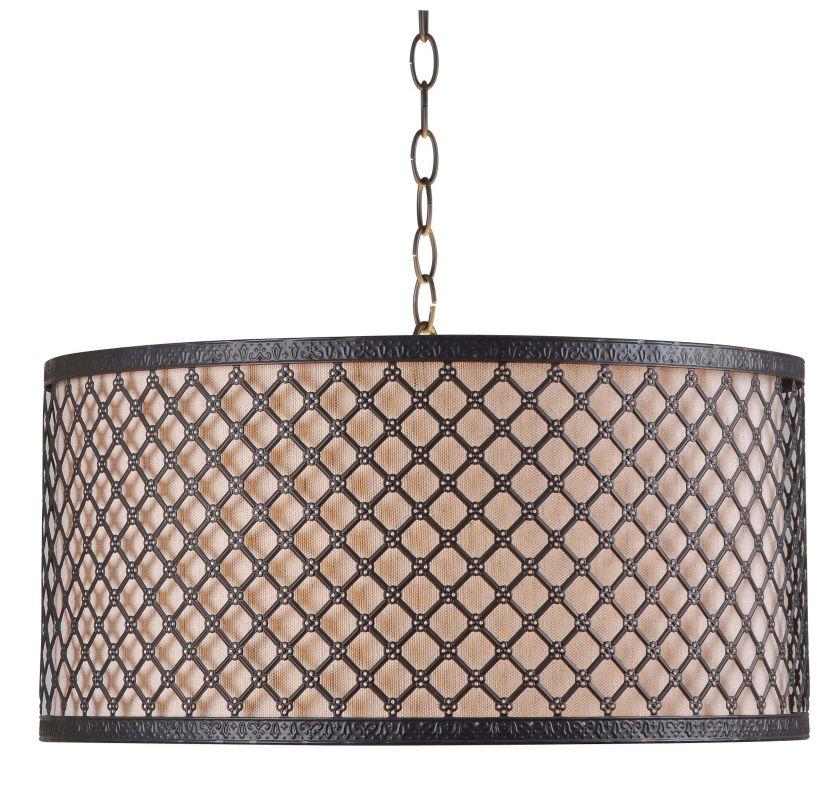 Kenroy Home 93312BRZ Hawthorn 3 Light Full Sized Pendant Bronze Indoor