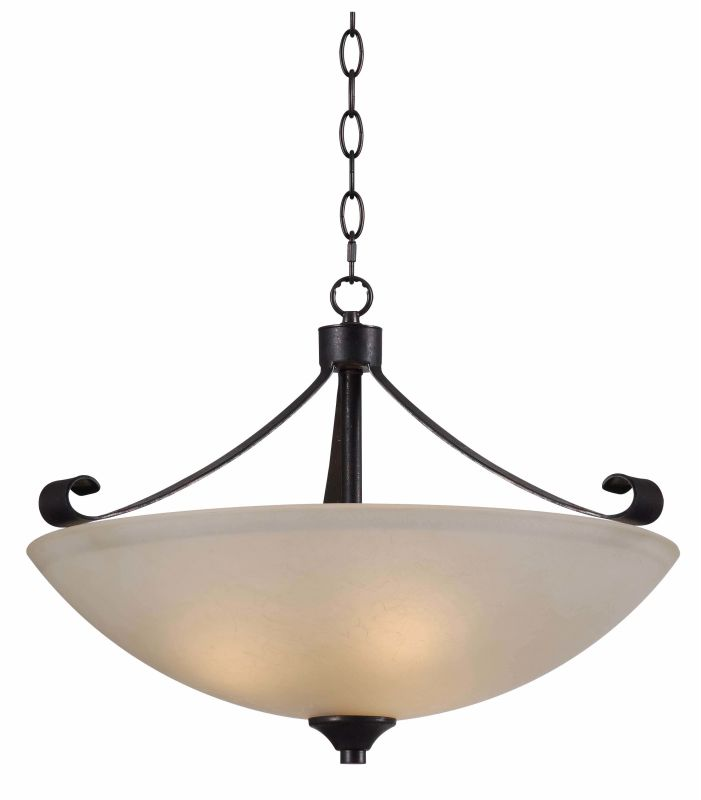 Kenroy Home 93323 Alto 3 Light Pendant Chocolate Caramel Indoor