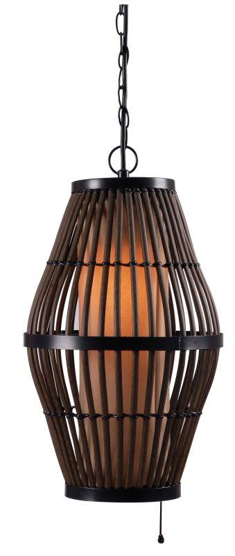 Kenroy Home 93390 Biscayne 1 Light Full Sized Pendant Black Indoor