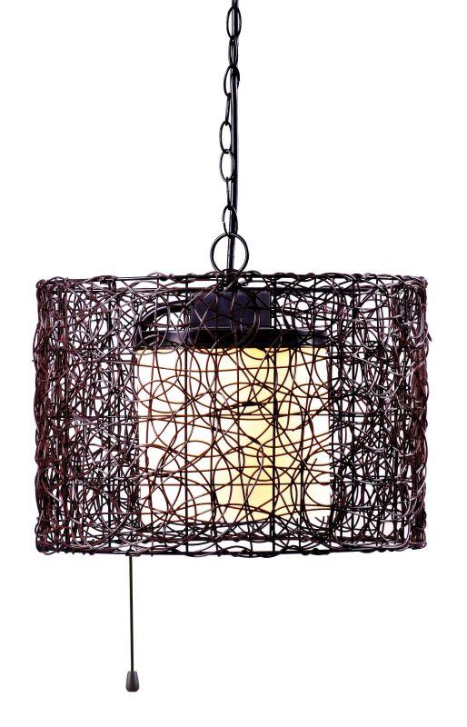 Kenroy Home 93393 Tanglewood 1 Light Full Sized Pendant Black Indoor