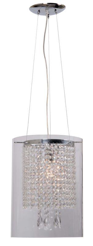 Kenroy Home 93405 Monroe 1 Light Full Sized Pendant Chrome Indoor