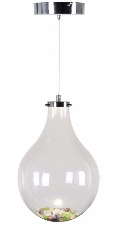 Kenroy Home 93415 Vessel 1 Light LED Pendant Chrome Indoor Lighting
