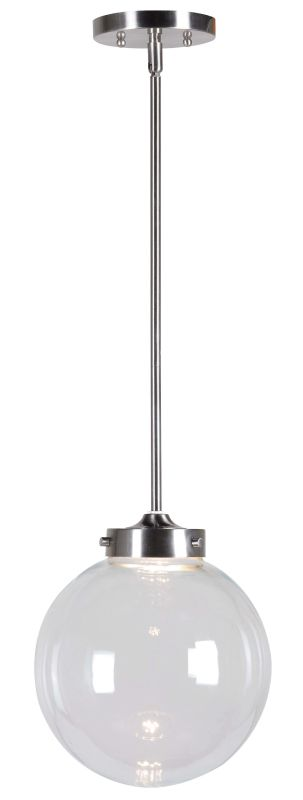 Kenroy Home 93426 Constellation 1 Light LED Pendant Brushed Steel