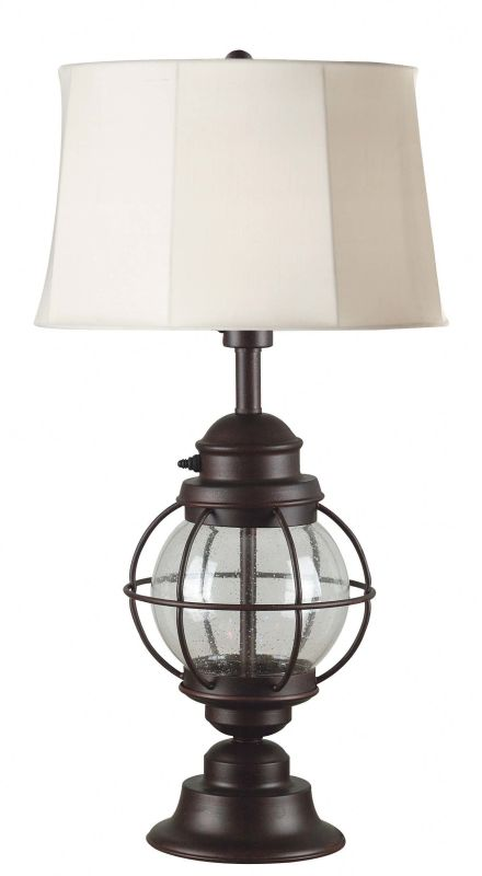 Kenroy Home 03070 Hatteras 1 Light Outdoor Table Lamp Gilded Copper