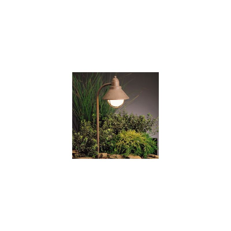 Kichler 15239ob olde brick 120v seaside landscape path for 120v landscape lighting