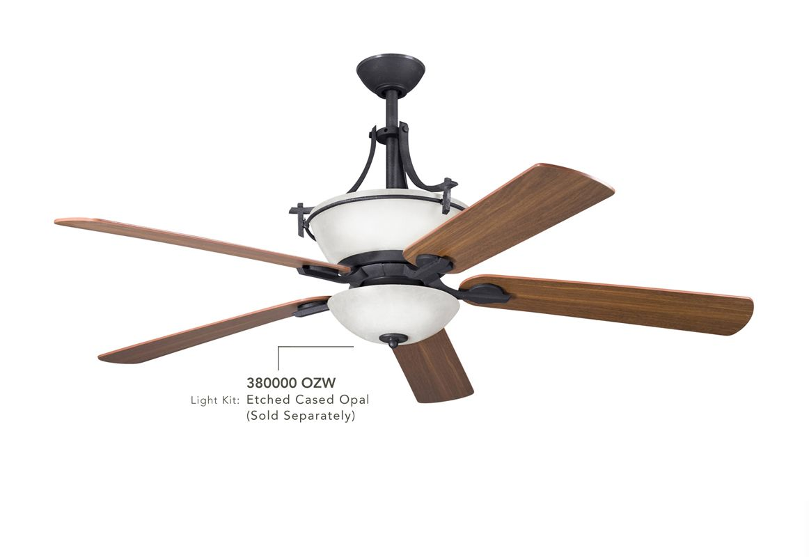 "Kichler 300011 60"" Indoor Ceiling Fan with Blades Downrod and Remote"