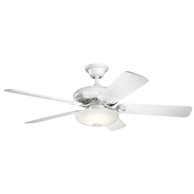 "Kichler 330005 52"" Bentzen Ceiling Fan - Includes 5 Blades LED Light"