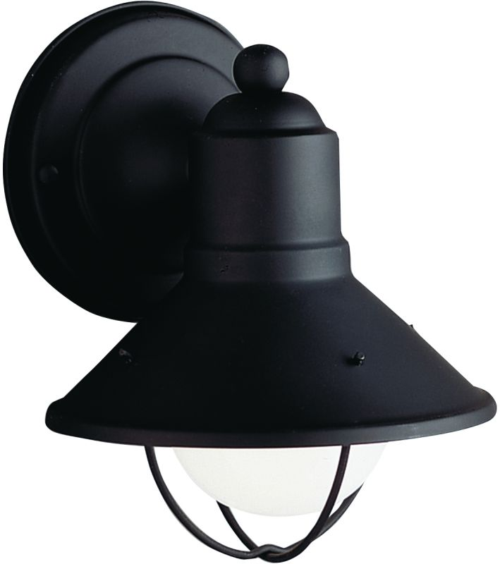 "Kichler 9021 Seaside Single Light 7"" Tall Outdoor Wall Sconce Black"